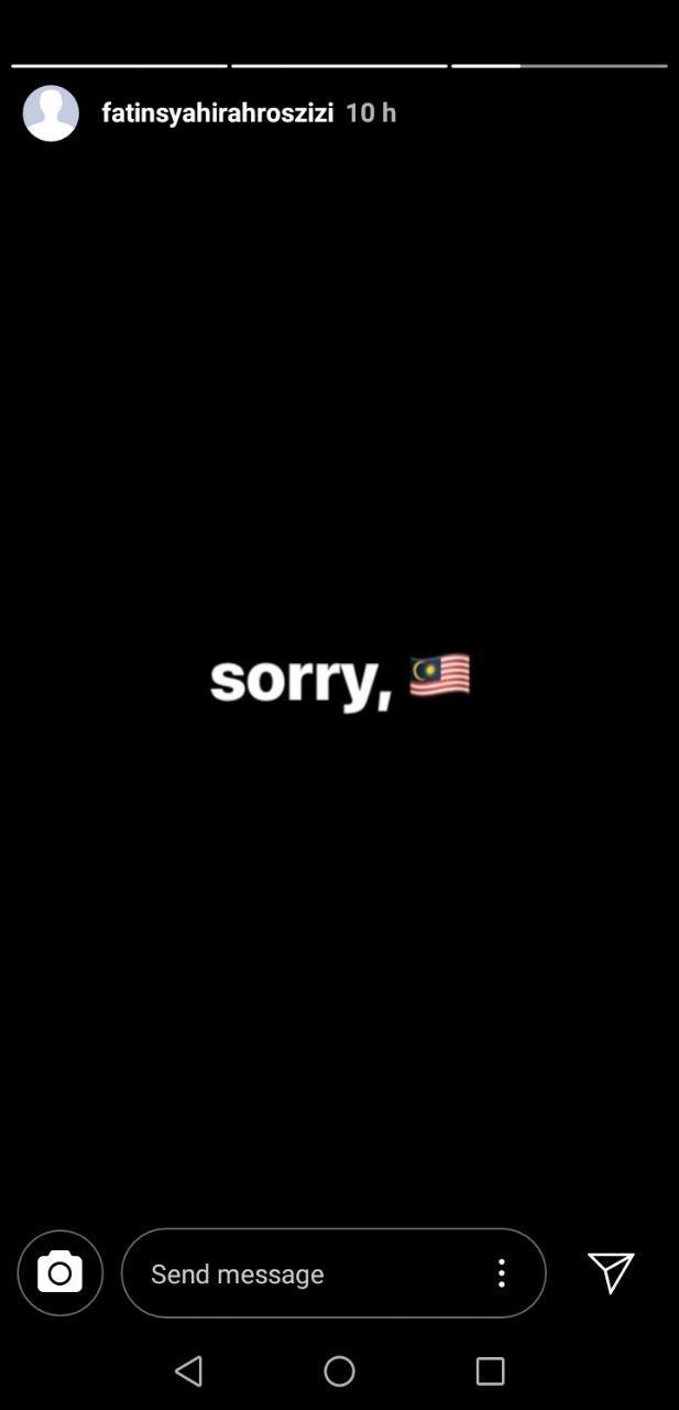 Adik Fatin Sorry Malaysia