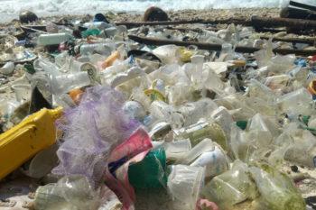 Debris and plastic litter found on Christmas Island