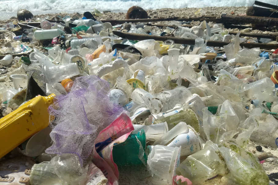 Debris and plastic litter found on Christmas Island