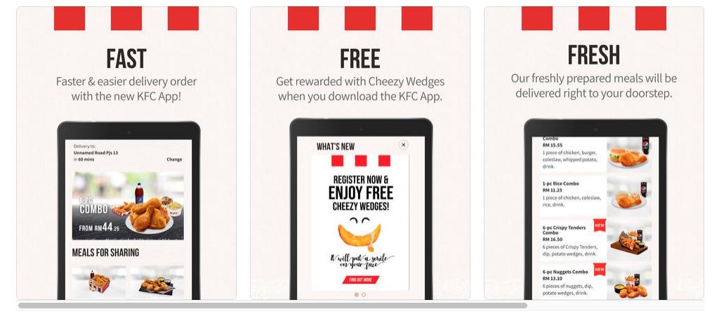 KFC Malaysia Aplikasi