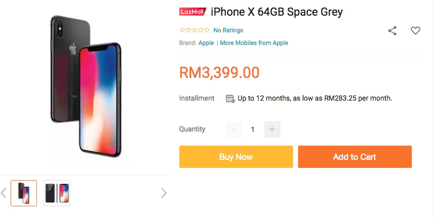 Apple iPhone X Lazada