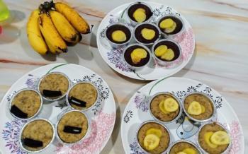 kek pisang kukus ooh
