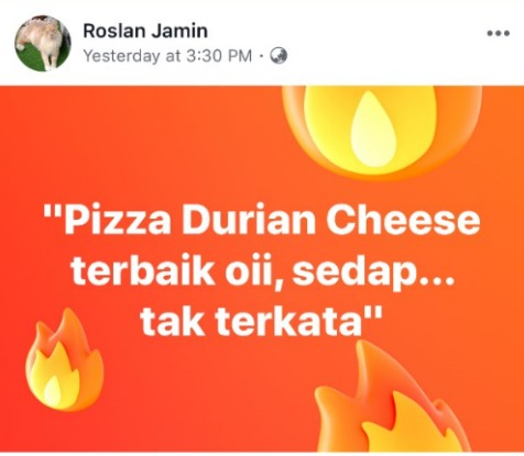 Pizza Hut Durian 1