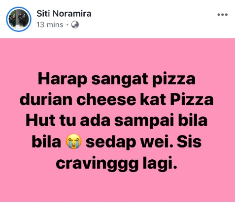Pizza Hut Durian 2