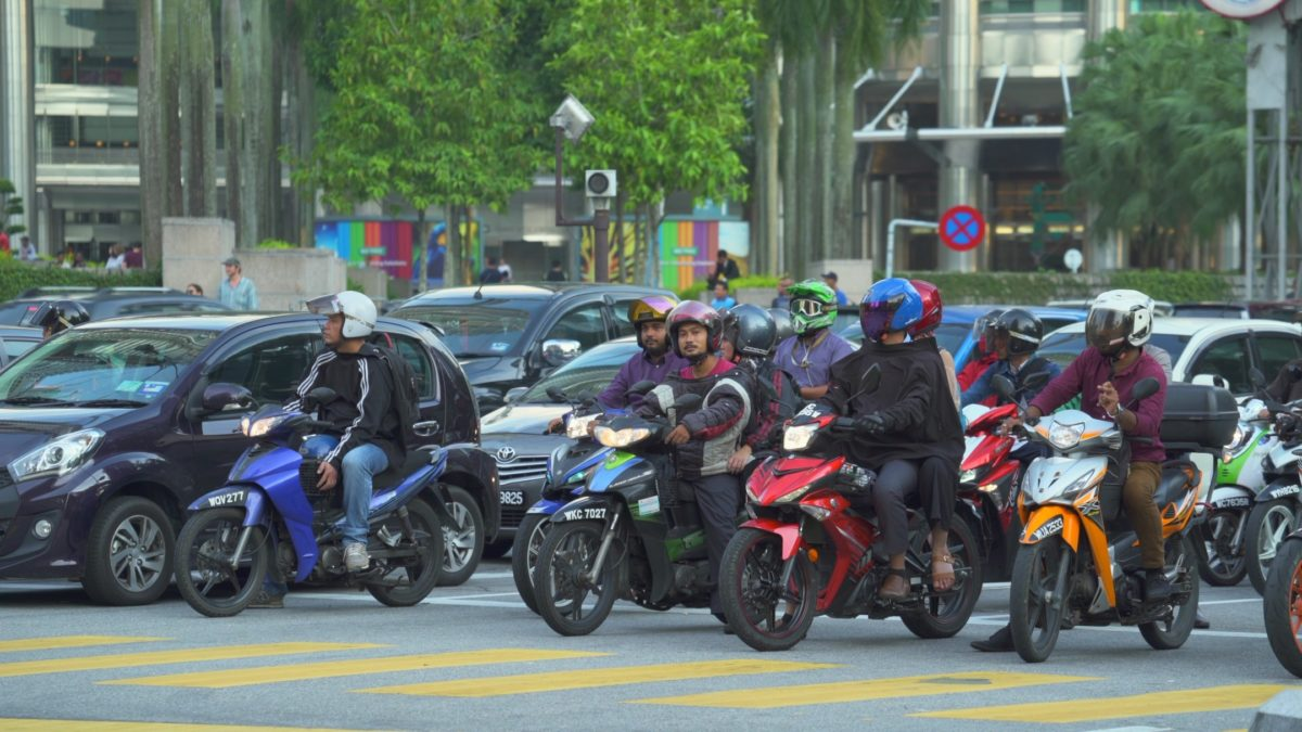 Motorcycles-in-Kuala-Lumpur-traffic