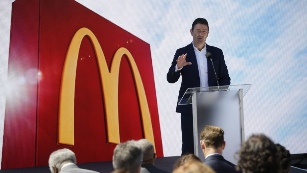 File: McDonald's Fires CEO Easterbrook Over Employee Relationship