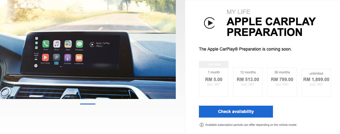 BMW-Malaysia-Connected-Drive-Apple-CarPlay-subscription-service