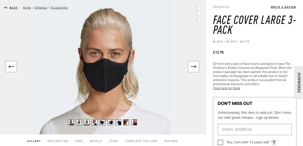 face cover adidas