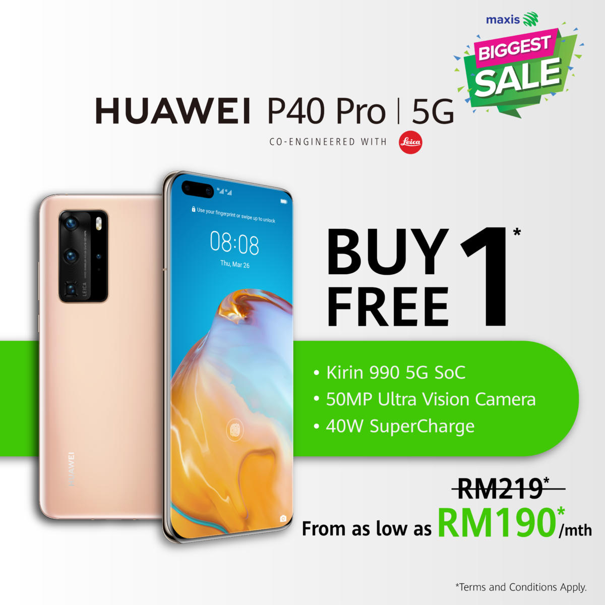 HUAWEI P40 Pro Maxis Biggest Sale