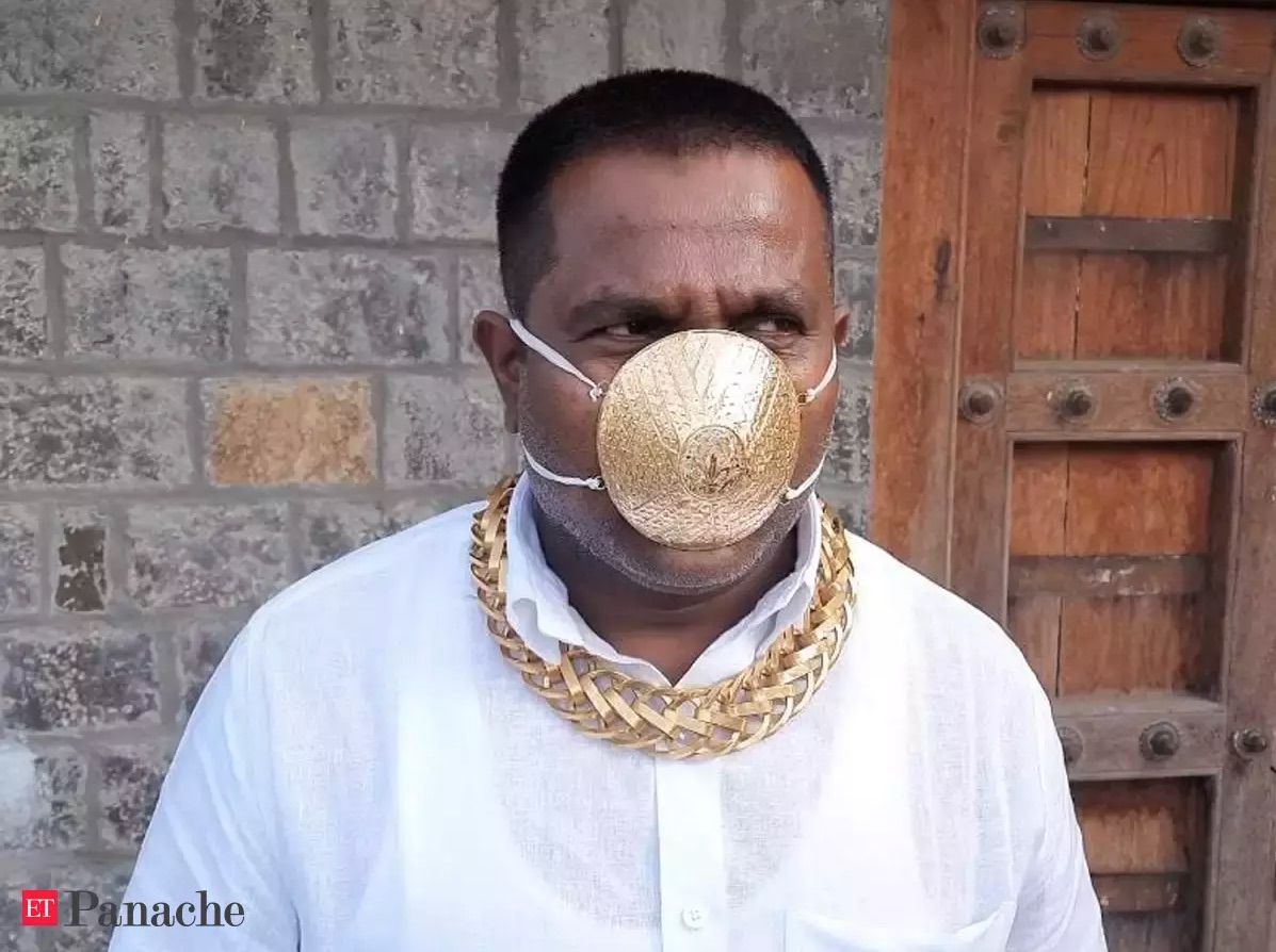 Indian Gold Face Mask