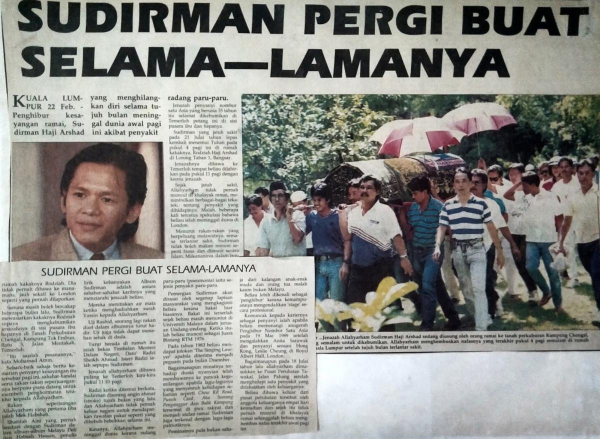 Sudirman Pergi Buat Selamanya – Mingguan Malaysia