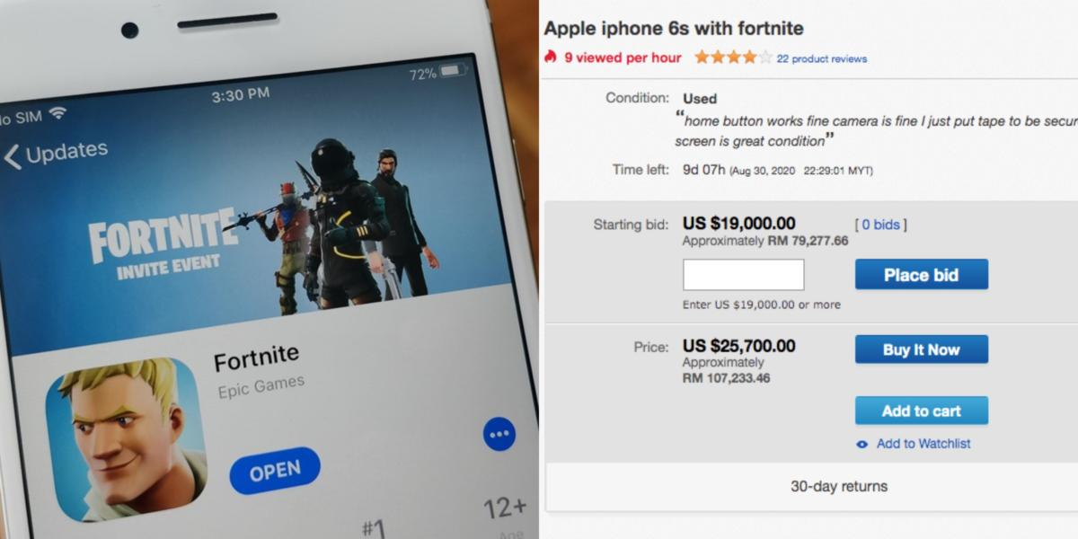 iphone 6s fortnite