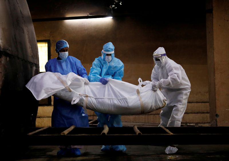 FILE PHOTO: Coronavirus disease (COVID-19) outbreak in New Delhi