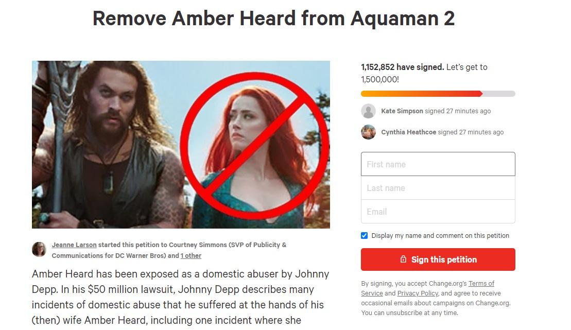 Remove Amber Heard Change