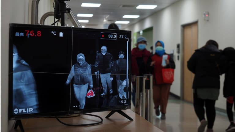 a-thermal-scanner-checks-temperatures-at-a-hospital-in-taipei-sixteen-people-have-been-diagnosed-with-the-coronavirus-in-taiwan-so-far-photo-epa-efe