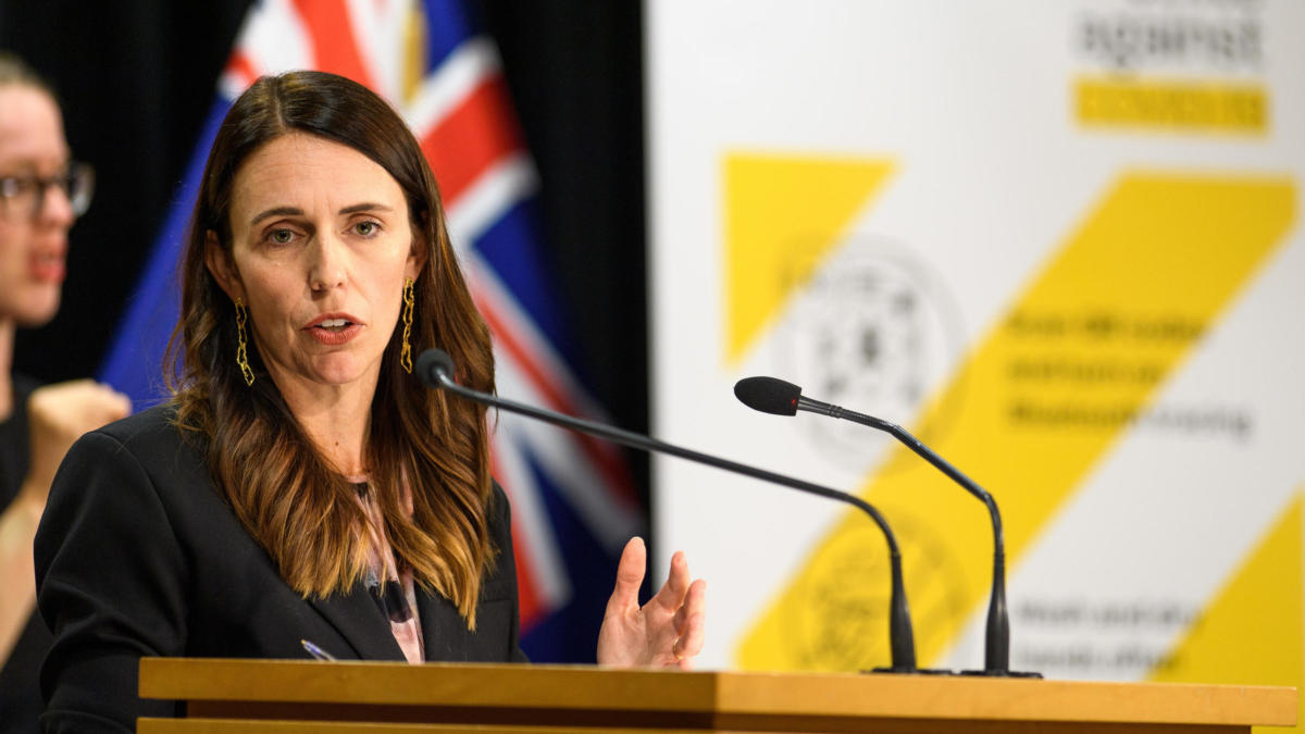 Prime Minister Jacinda Ardern Gives COVID-19 Update After New Community Cases Reported In Auckland