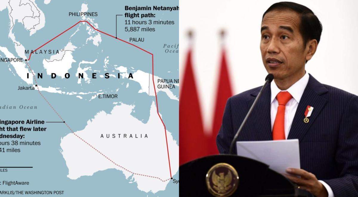 Ini Cara Indonesia Sekat Laluan Udara Daripada Direntasi Pesawat Pembawa Benjamin Netanyahu