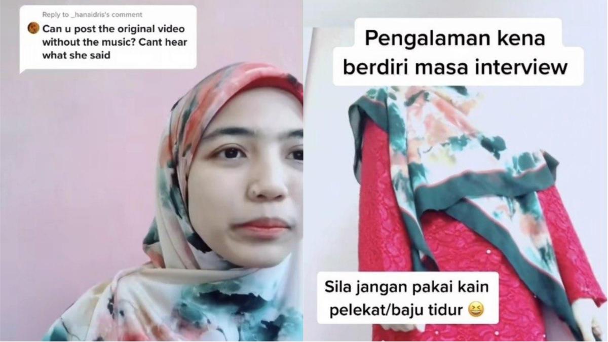 Wanita Ini Terkejut Diminta Berdiri Tunjuk Pakaian Pada Sesi Temuduga 'Online'