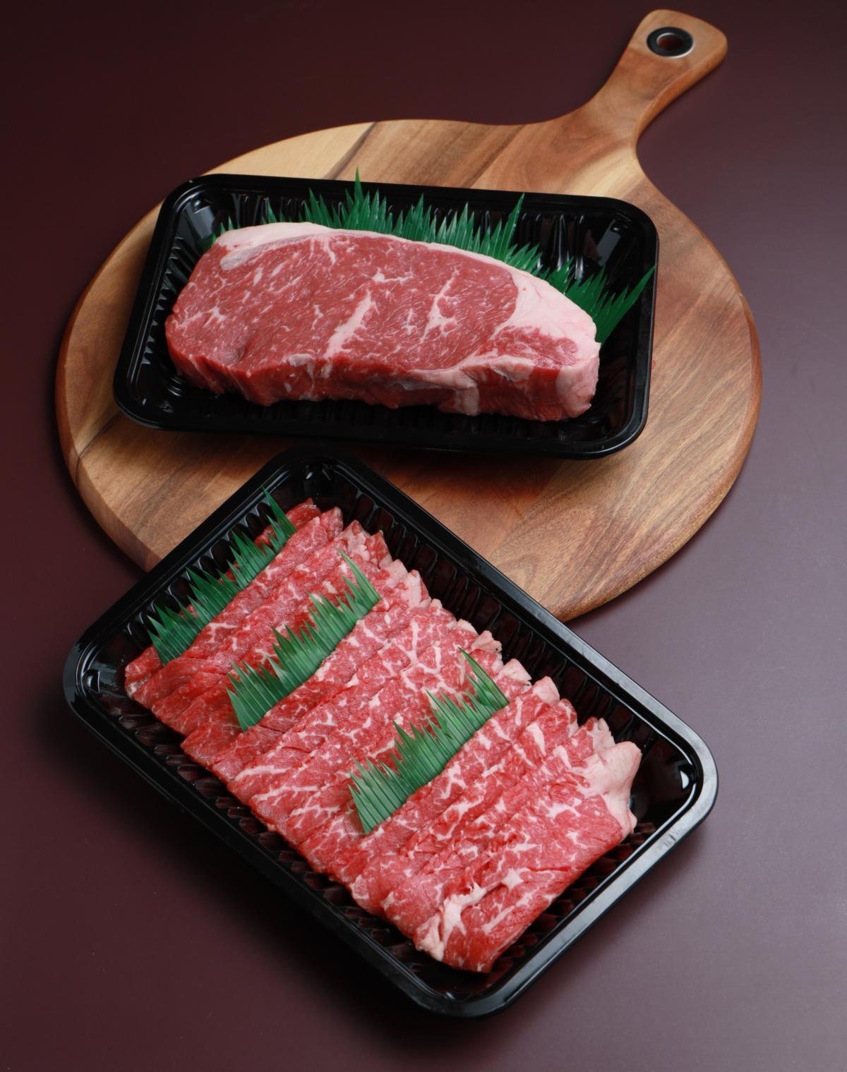 Aust Black Angus Striploin and Aust Beef Shabu-Shabu (1)