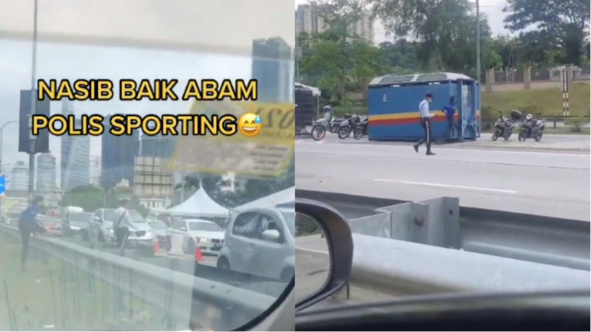 'Sudah Dihujung, Malu Tolak Tepi'- Pemuda Nekad Berlari Tumpang Tandas Di SJR Curi Perhatian Netizen