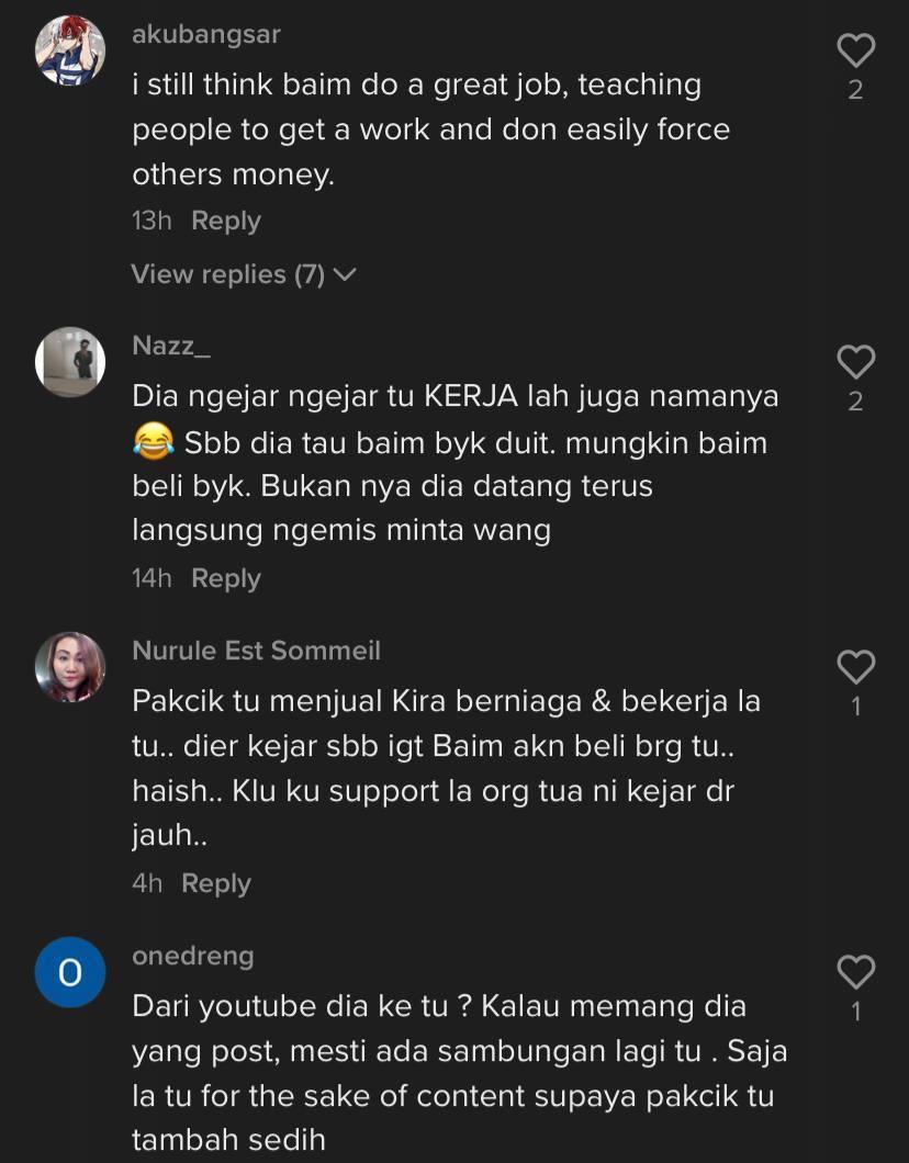 'Berniaga Bukannya Mengemis'- Tindakan Baim Wong Marah Pak Cik Tua Raih Pelbagai Reaksi Netizen 4