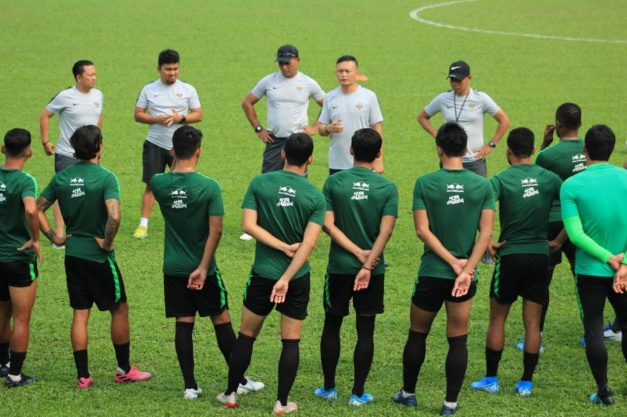 Timnas Indonesia di Lapangan PKNS. (Foto: PSSI).